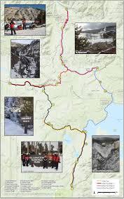 Fountain Valley Map Yellowstone 3 Day Snowmobile Tour