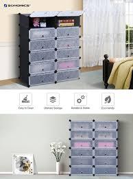 Amazon Organizer Amazon Com Songmics Diy Shoe Rack 12 Cube Shoe Cabinet Plastic