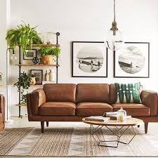 Living Room With Leather Sofa Best Light Brown Leather Sofa Decorating Ideas Photos