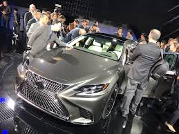 lexus ls 500 heads up display new lexus ls500 at naias in detroit best bits check out that