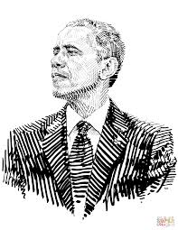barack obama the president of the usa coloring page free