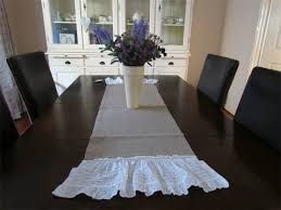 shabby chic table runner linen lace shabby chic table runner lizzies lovelies madeit com au