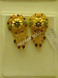 gold earrings tops gold ear tops gold ear tops exporter manufacturer service