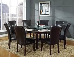 stunning round glass dining room set gallery home design ideas
