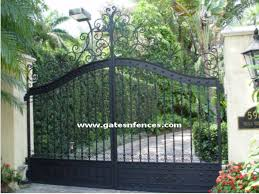 Front Yard Metal Fences - aluminum driveway gates wrought iron gates