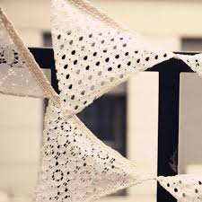 decoration garden party 2 1m lace bunting wedding bunting banner shabby chic vintage
