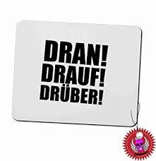 fond d ran de bureau tapis de souris 3 mm avec inscription inscription en allemand dran