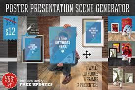 banner design generator poster presentation scene generator by fresh design elements