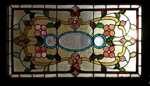 antique stained glass transom window fid14001 48 u201d x 27 u201d antique american stained glass windows 541