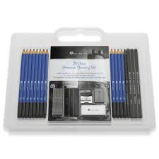 26 piece drawing and sketching pencil art set u2013 deluxe kit perfect
