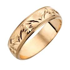 gold bands wedding ideas weddingas thick gold band bands karat for women