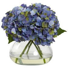 hydrangea arrangements silk blue hydrangea arrangement silk flower arrangements