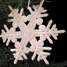 set of 5 clay snowflakes clay snowflake ceramic snowflake