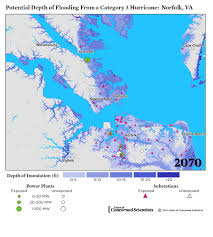 Norfolk Virginia Map by Lights Out Storm Surge Blackouts And How Clean Energy Can Help
