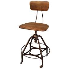 Adjustable Drafting Chair Early Industrial Toledo Drafting Stool At 1stdibs