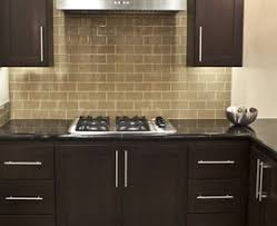 Modern Kitchen Tile Backsplash by Interior Khaki Glass Subway Tile Modern Kitchen Backsplash