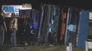 Indiana Flags At Half Staff At Least 18 Hurt When Chicago Bound Megabus Overturns In Indiana
