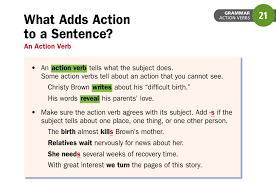 grammar action verbs ms martino