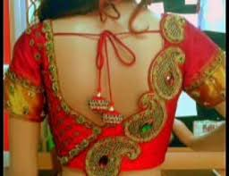 dailymotion blouse colorful sarees with sleeve blouse designs 2015