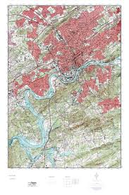 Topographical Map Of Tennessee mytopo knoxville tennessee usgs quad topo map