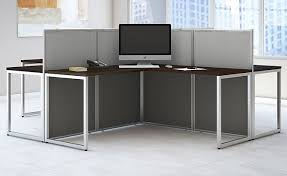 Office Cubicle Desk Easy Office Cubicle Series 4 Person Cluster L Cubicle
