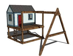 ana white how to build a swing set for the playhouse diy projects