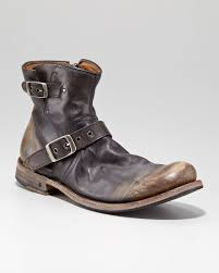 engineer style motorcycle boots john varvatos goodyear engineer boot in black for men lyst