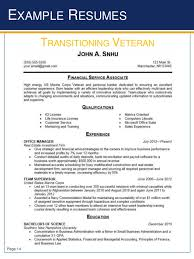 example of military resume example military resume military to