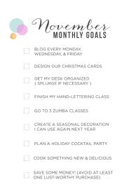 november u0027s monthly goals october recap bubbly design co