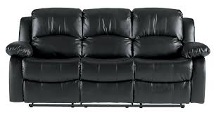 Buy Old Furniture In Bangalore Amazon Com Homelegance Double Reclining Sofa Black Bonded