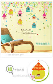 sk7094 the colorful birdcages wall sticker flowers and leaves diy sk7094 the colorful birdcages wall sticker flowers and leaves diy home bedroom nursery kids room decorative