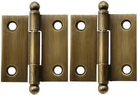 antique brass cabinet hinges pair of solid brass ball tip cabinet hinges in antique by hand 1 1