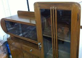 the art deco buffet is an original vintage piece made of old solid