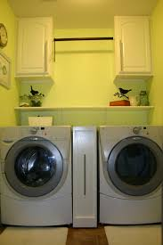 Laundry Cabinet With Hanging Rod Laundry Room Reveal Updated U2014 Beckwith U0027s Treasures