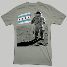 Chicagos Flag Chicago Flag Moon Man T Shirt Chicago Tribune Store