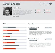 Resumes Online Templates 50 Professional Html Resume Templates Web U0026 Graphic Design