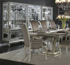 hollywood swank pearl curio with glass base by aico aico dining