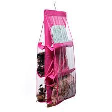 Hanging Organizer Portable Space Saver Closet Door Bedroom Pockets Handbags Hanging