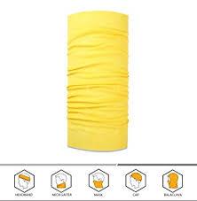 yellow headband 12 in 1 headwear versatile outdoors daily