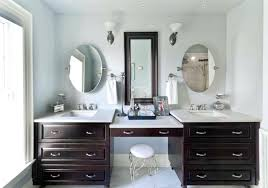 Bathroom Vanity With Makeup Station Double Vanity With Makeup Station Double Bathroom Corner Vanity