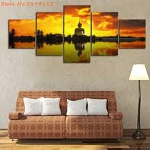 Posters For Living Room by Popular Buddha Sunset Painting Buy Cheap Buddha Sunset Painting