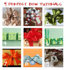 Gift Wrapping Bow Ideas - put a little umbrella in your drink 9 bow tutorials for perfectly
