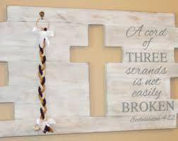three cords wedding ceremony wood wedding sign unity wedding braid cord of three strands