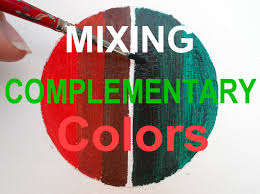 oil painting for beginners mix complementary colors red and green