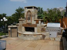 outdoor kitchens with fireplaces creative fireplaces design ideas