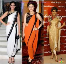 How To Draping New Fashion Trends Of Draping A Saree U2013 Lady India