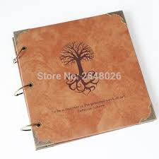 engraved photo albums 50 pages tree personalized monogrammed engraved leather photo