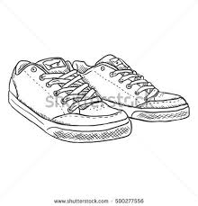 sketch shoes icon stock vector 105190604 shutterstock