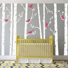 birch tree wall decal with birds sticker set birch tree wall decal with birds sticker set baby nursery stickers urban artwork