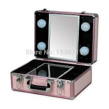 free shipping small makeup with lights professional portable